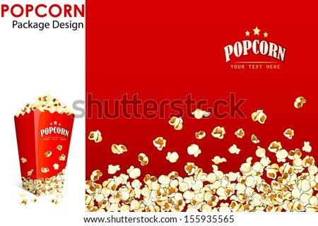 vector illustration of print layout for popcorn bucket - stock vector
