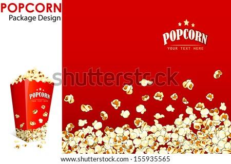 vector illustration of print layout for popcorn bucket - stock vector