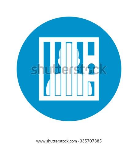 vector illustration of prison icon - stock vector