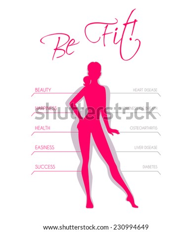 Vector illustration of Problems with excess weight - stock vector