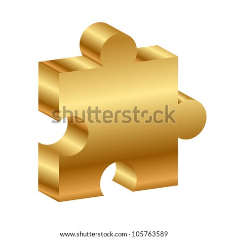 Vector illustration of puzzle - 3d - stock vector
