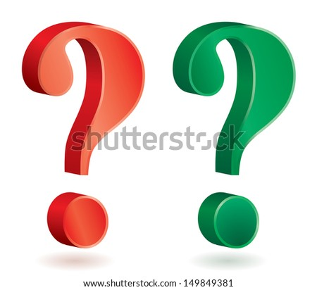Vector illustration of question mark signs.