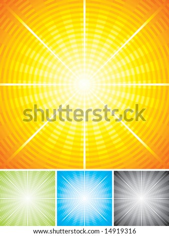 Vector illustration of Radial background with layered.