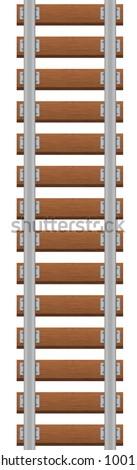 Vector illustration of railroad - stock vector