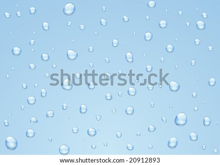 Vector illustration of Rain drops on a window. - stock vector