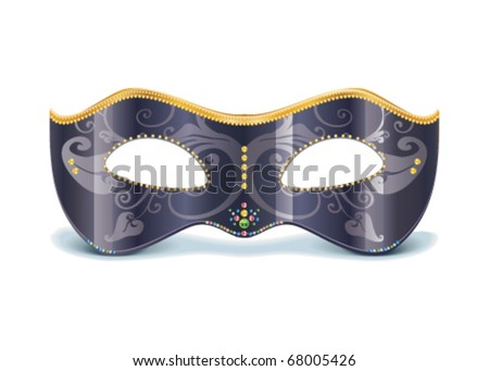Vector Illustration of realistic carnival or theater mask - stock vector