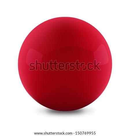 Vector illustration of red ball - stock vector