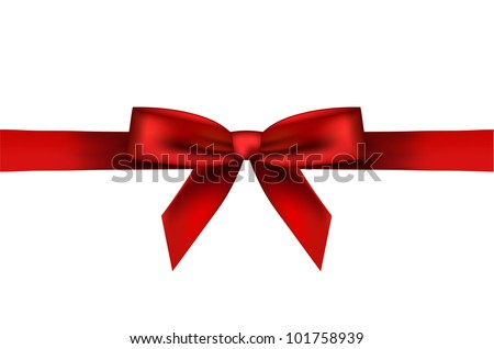 Vector illustration of red bow - stock vector