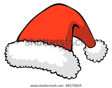 Vector illustration of red Santa's hat - stock vector