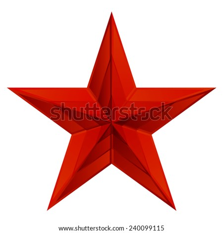 Vector illustration of red star  - stock vector