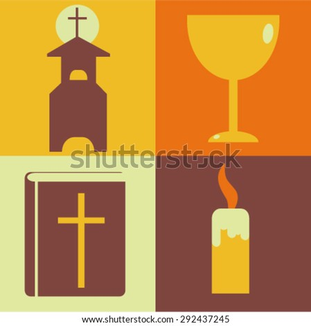 Vector illustration of religion - stock vector
