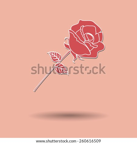 Vector illustration of  Rose color background. - stock vector
