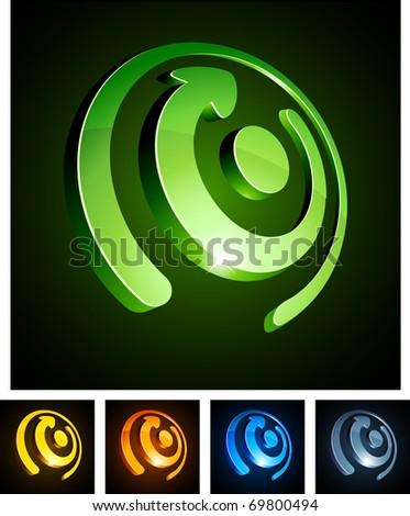 Vector illustration of rotate shiny symbols. - stock vector