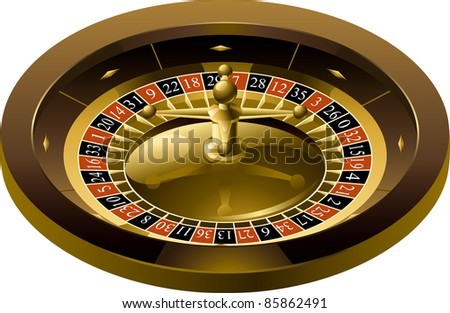 Vector illustration of Roulette isolated on white background. There are no meshes in this image. - stock vector