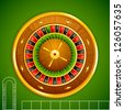 vector illustration of roulette on casino table - stock photo