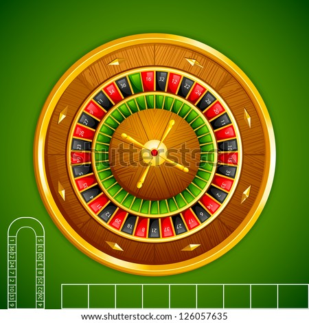 vector illustration of roulette on casino table - stock vector