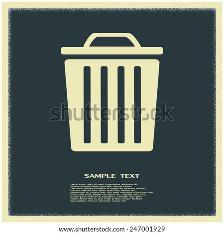 Vector illustration of rubbish bins  - stock vector