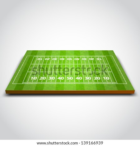 vector illustration of Rugby Field. - stock vector