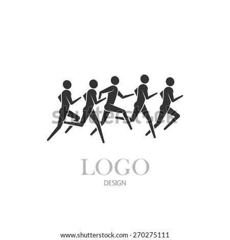 Running Logo Vector Vector Illustration of Running