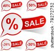 Vector illustration of sale sticky labels. - stock vector