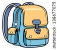 Vector illustration of school bag - Back to school - stock vector