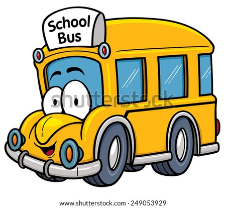 Vector illustration of School bus - stock vector