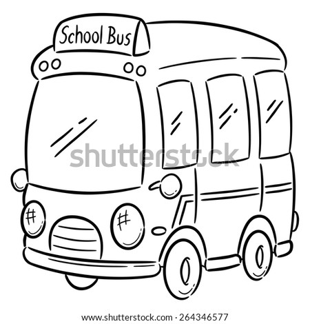 Vector Illustration School Bus Coloring Book Stock Vector HD ...