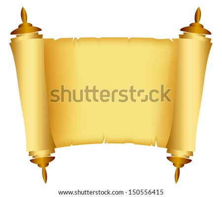 Vector illustration of Scroll of the Law - stock vector
