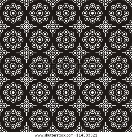 Vector illustration of seamless black-and-white abstract pattern