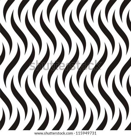 Vector illustration of seamless black-and-white geometric pattern - stock vector
