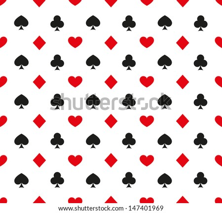 Vector illustration of seamless cards pattern - stock vector