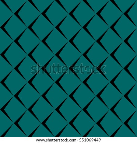 Vector illustration of seamless pattern on teal background. The pattern resembles the scales. It can be used in the design of cloth, packaging, wrapping paper, wallpaper, etc.