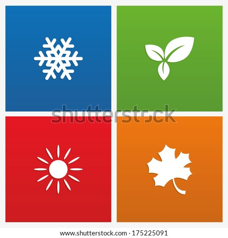 Vector illustration of seasons - stock vector