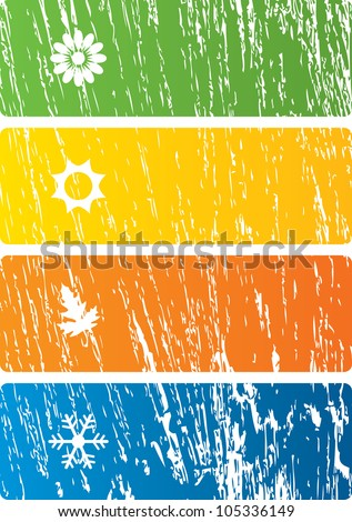 Vector illustration of seasons background. - stock vector