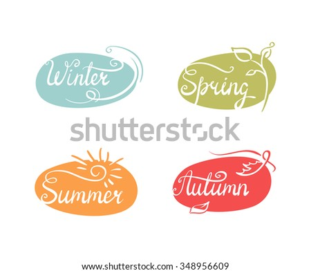 Vector illustration of 4 seasons icons. Eps 8 file - stock vector