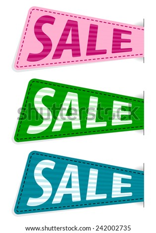 Vector illustration of set vector sale sticker - stock vector