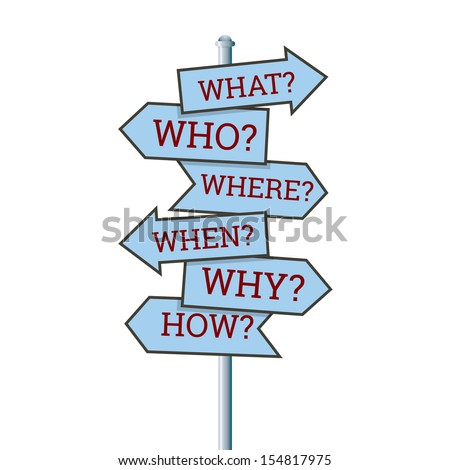 Vector illustration of several question arrow signs. - stock vector