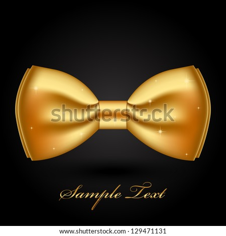 Vector illustration of shiny gold bow - stock vector