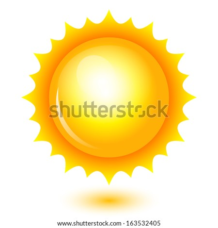 Vector illustration of shiny sun