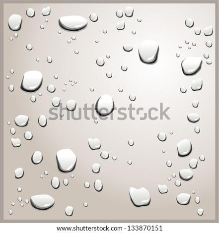 Vector illustration of shiny water drops - stock vector