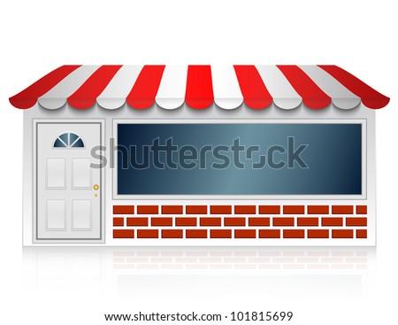 Vector illustration of shop - stock vector