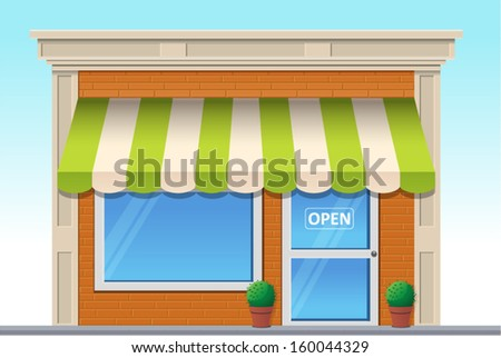 Vector illustration of shop icon - stock vector