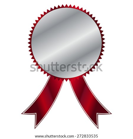 Vector illustration of Silver Label - stock vector