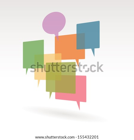 Vector illustration of simple chat spaces. - stock vector