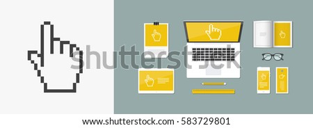 Vector illustration of single isolated pointer icon