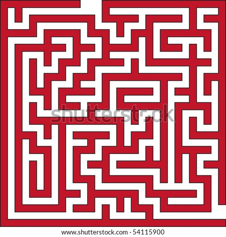 Vector illustration of small maze - stock vector