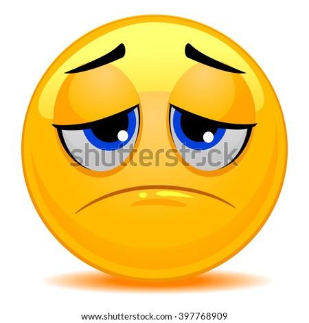 Vector Illustration of Smiley Emoticon Sad Face - stock vector