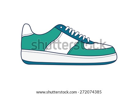 Vector illustration of sneakers for your design - stock vector