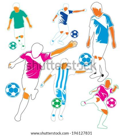 Vector illustration of  soccer  player - stock vector