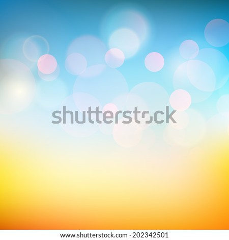 Vector illustration of soft colored abstract background - stock vector